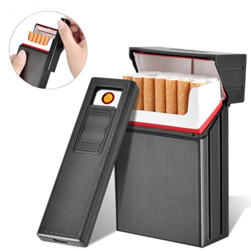 LORWING Cigarette Case Module with Electric Lighter CG6 Black